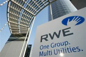 An outside view shows RWE AG headquarters in Essen March 26, 2002. German utility RWE AG said it bea..