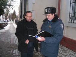 Помощь от сотрудников милиции