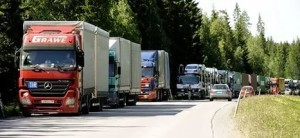 700 грузовиков ожидают на литовско-белорусской границе