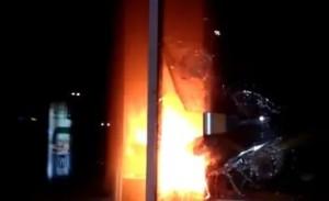 Радикальные элементы подожгли отделение Сбербанка в Львове
