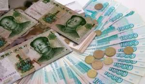 Количество рассчетов в юанях увеличивается