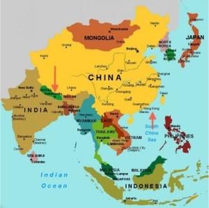 индия япония китай