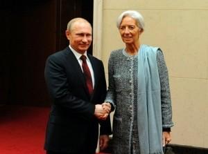 Встреча Лагард и Путина