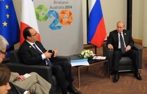 Путин встретился с Олландом