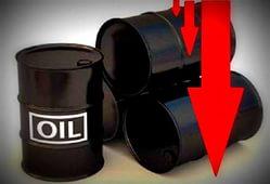 Цены на нефти снизились на уровень 45 долл./барр.