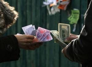 Обстановка на черном рынке валют в Киеве