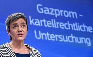 Маргарет Вестагер прокомментировала переговоры с Газпромом