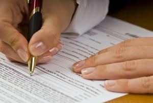 Заполнение заявления в налоговую службу