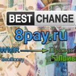 Обмен валют с помощью электронного обменника 8pay.ru или что нужно знать о сотрудничестве с ним
