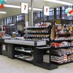 Кассовая зона в супермаркете